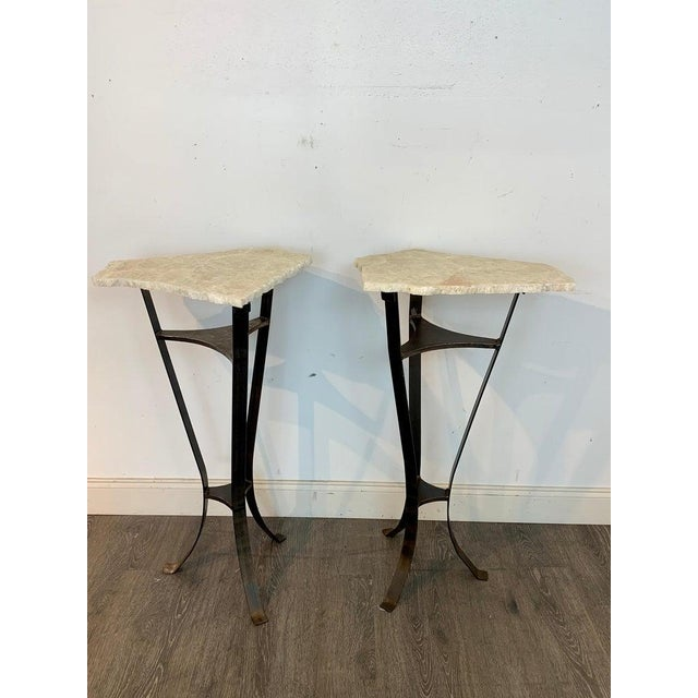 Pair of Rock Crystal and Iron Pedestals For Sale - Image 9 of 13