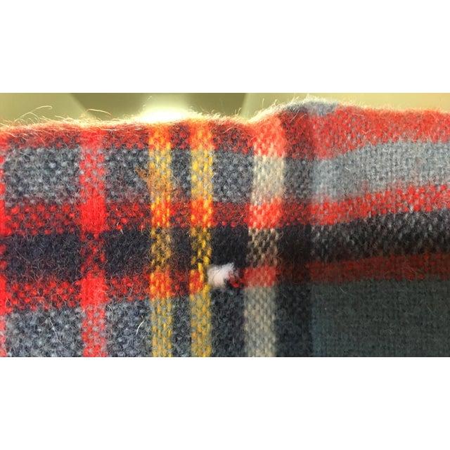 Vintage English Plaid Wool Blanket - Image 4 of 7