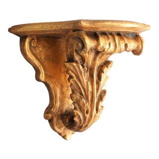 Italian Giltwood Decorative Wall Bracket For Sale