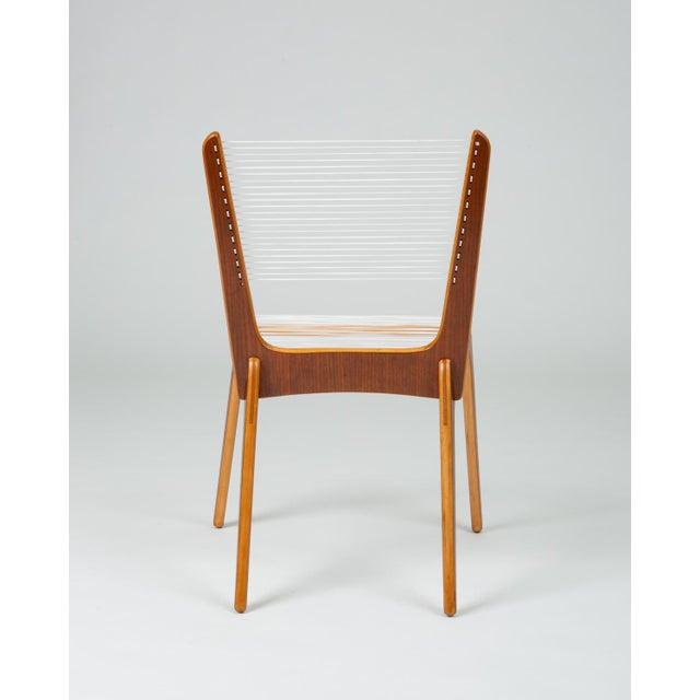 Pair of Canadian Modernist Cord Chairs by Jacques Guillon For Sale In Los Angeles - Image 6 of 13