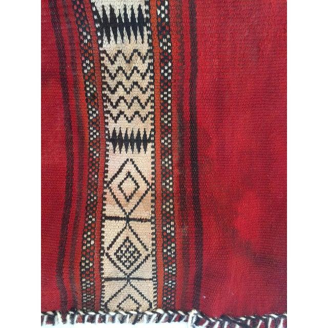 Vintage Ethnic Tasseled Woven Bag Wall Hanging For Sale - Image 4 of 7