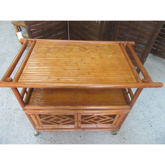 Tortoise Shell Bamboo Cart - Image 5 of 8