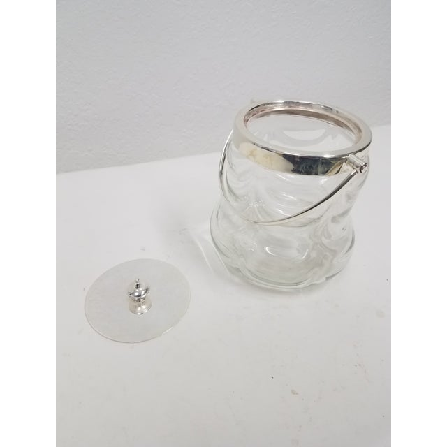 Antique English Crystal Glass Silverplate Biscuit Jar This jar is nice and heavy with a very nice pattern, The silverplate...