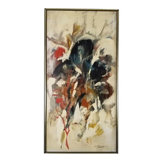 Mid-Century Expressionist Abstract Painting For Sale