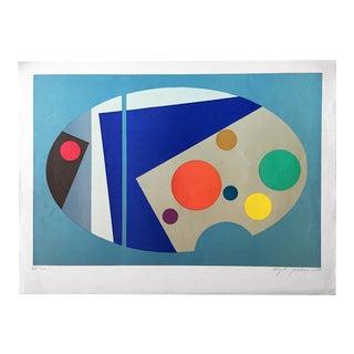 Bamse Kragh-Jacobsen Op Art Serigraph Mid Century Modern 1970 For Sale