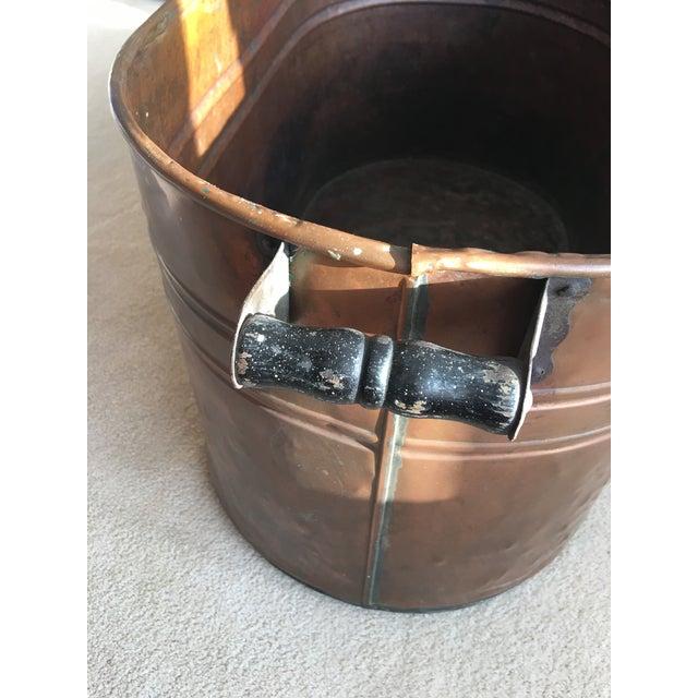 Vintage Copper Boiler Wash Tub Basin For Sale In Detroit - Image 6 of 10