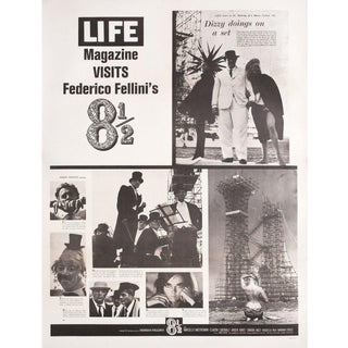 8 1/2 1963 U.S. 30 by 40 Film Poster For Sale