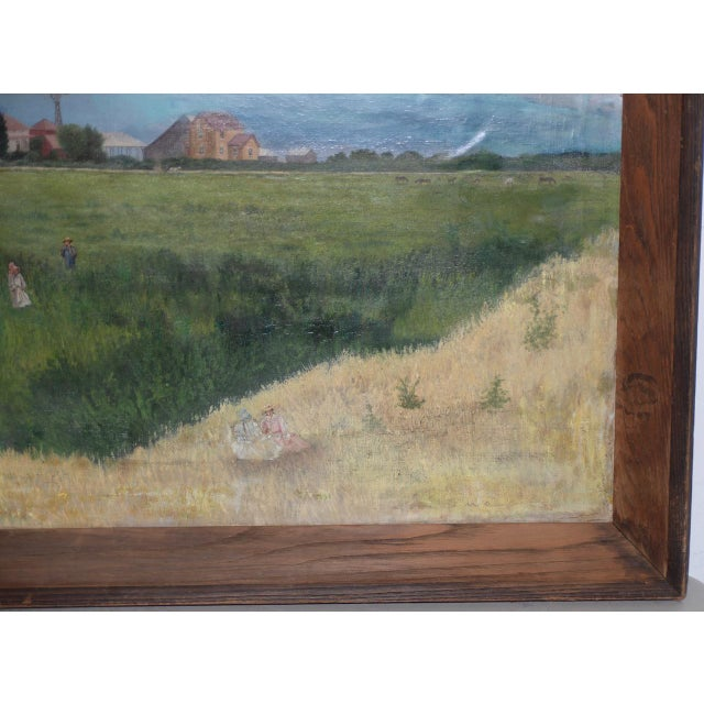Prather Fresno Family Farm, Prather, Ca Historical Oil Painting 19th Century For Sale - Image 4 of 11