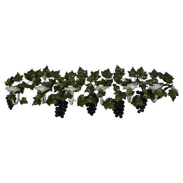 Italian Toleware Grape Candelabrum - Image 1 of 5