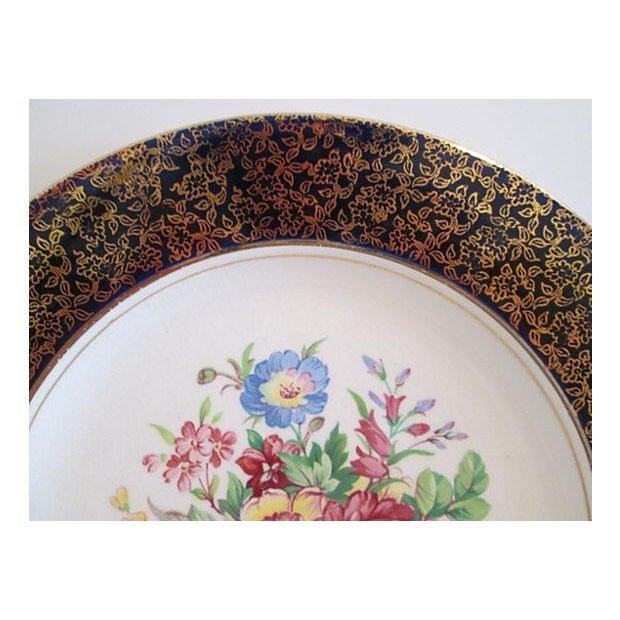 European Gilded Dinner Plates - Set of 4 - Image 3 of 8