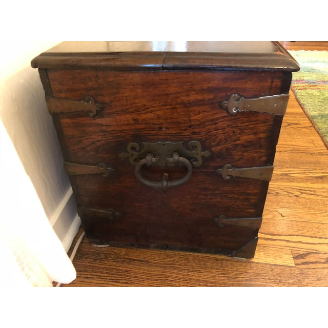 Late 18th Century Late 18th Century Antique Sea-Man's Chest For Sale - Image 5 of 12