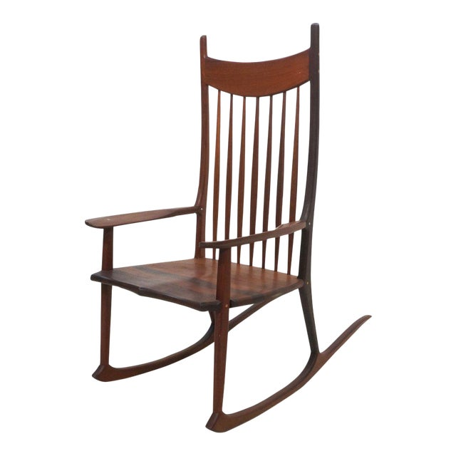 Tall Oversized American Craftsman Rocking Chair - Image 1 of 10