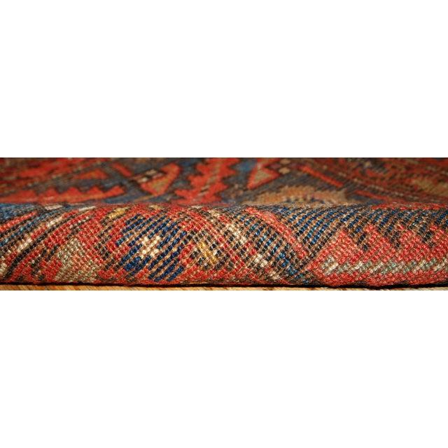 1880s Hand Made Antique Persian Kurdish Rug 33 X 72