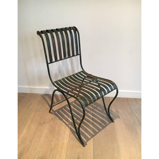 French Wrought Iron Garden Chair - Image 4 of 11