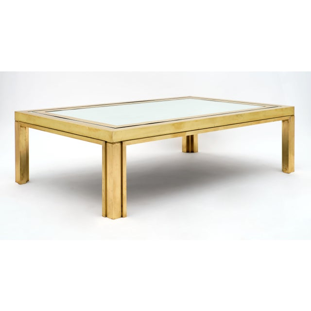 Metal Romeo Rega Brass and Mirror Coffee Table For Sale - Image 7 of 10