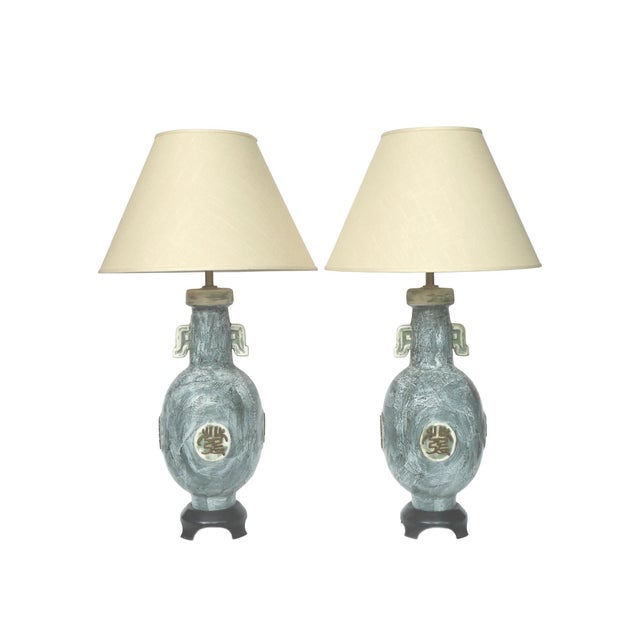 Marbro 1970s Ceramic Table Lamps - A Pair - Image 10 of 10