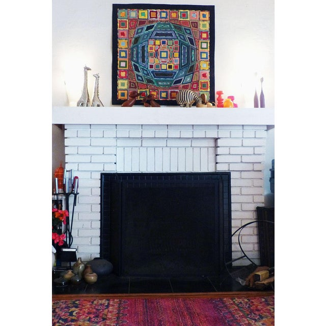 2000 - 2009 2007 Op Art Victor Vasarley Modern Tapestry Wall Hanging Fiber Art Signed Made in Italy For Sale - Image 5 of 9