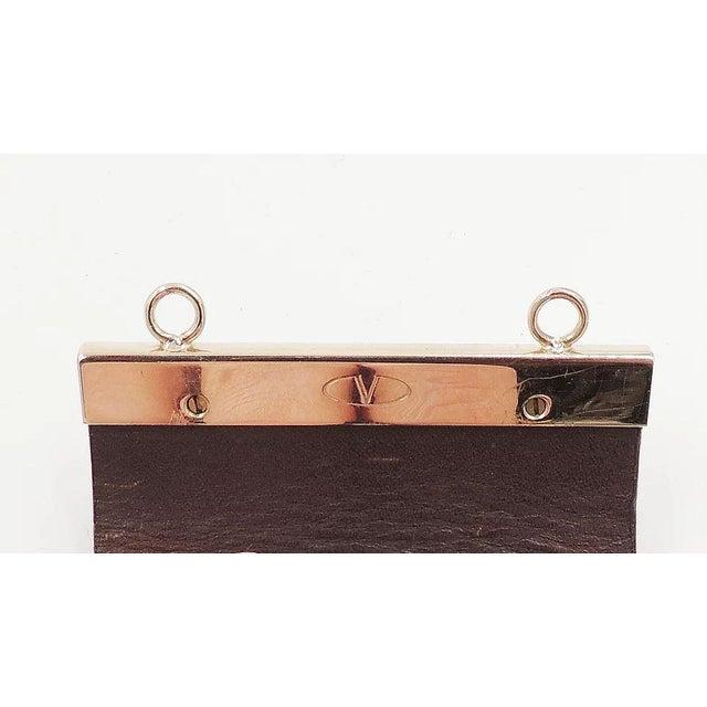 Valentino Leather & Enamel Zebra Stripe Rhinestone Cuff Bracelet For Sale - Image 9 of 12