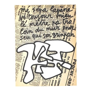 Vintage Mid 20th C. Modern Heliogravure-Jean Dubuffet-Switzerland C.1973 For Sale