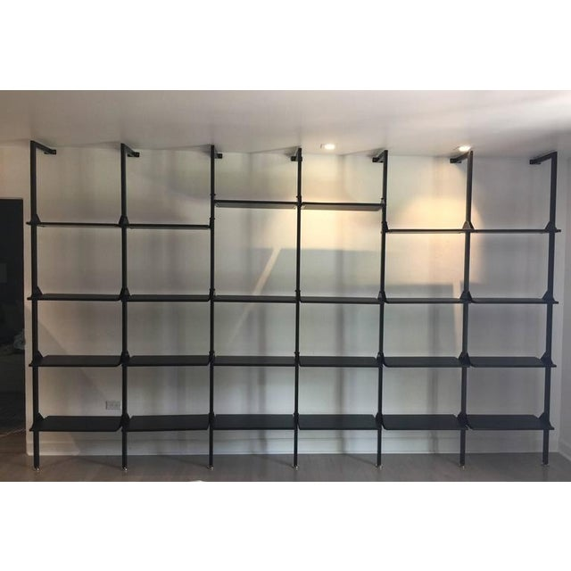 Architectural Italian Wall-Mounted Shelving System For Sale In Miami - Image 6 of 6