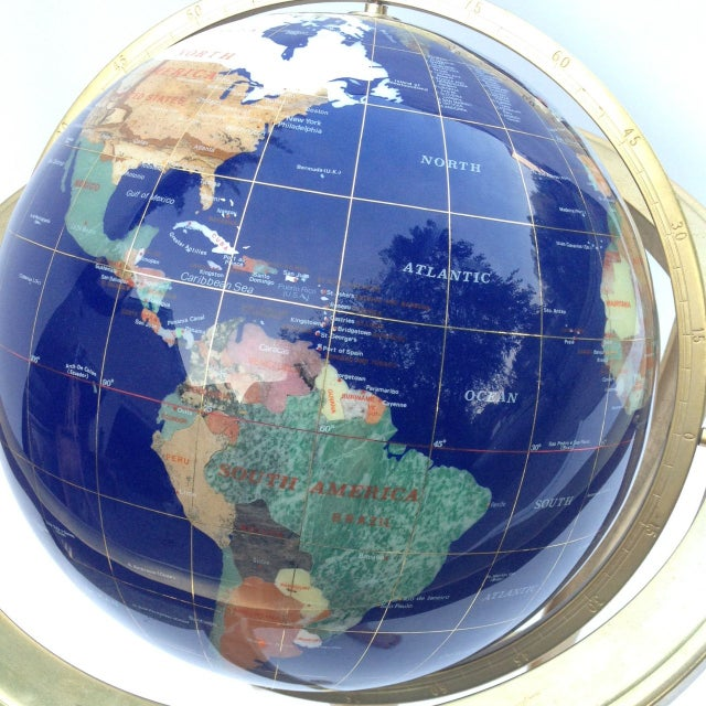 Contemporary Precious Stone Globe For Sale - Image 3 of 6