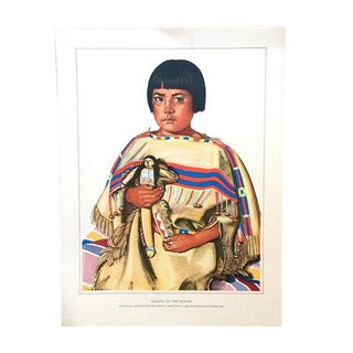 1940s Blackfoot Native American Print by Winold Reiss