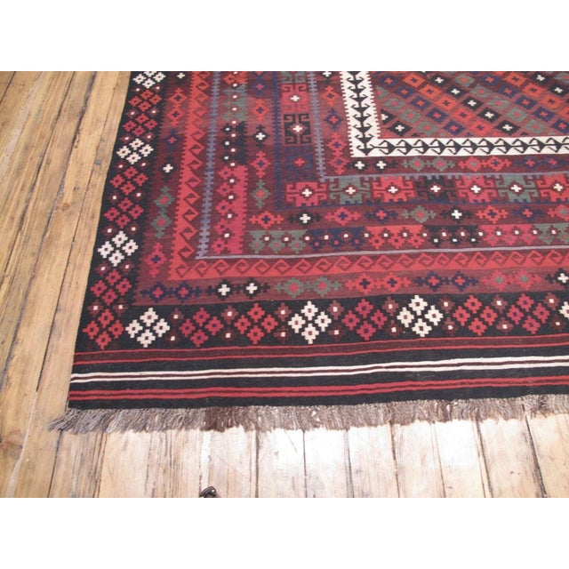 Islamic Large Afghan, Uzbek Kilim For Sale - Image 3 of 6