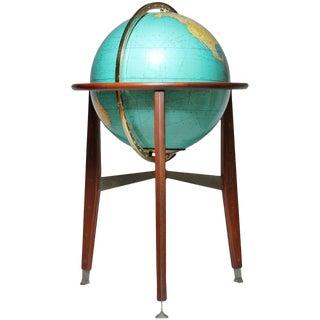 Illuminated Globe Lamp Attributed to Edward Wormley Dunbar For Sale