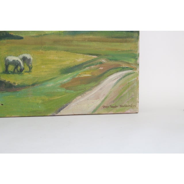 Abstract Abstract Danish Country Landscape Painting For Sale - Image 3 of 7