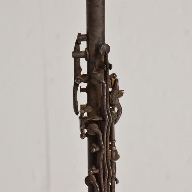 Paul Evans Antique Decorative European Clarinet Oboe Sterling Silverplated 38526 For Sale - Image 4 of 11