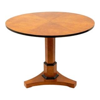 1980s Biedermeier Style Part Ebonized Round Center Table For Sale