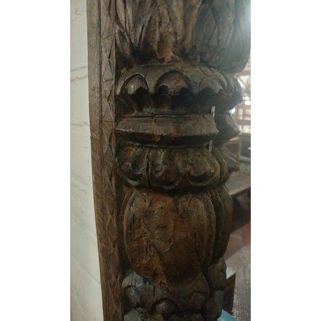 Antique Door Frame Mirror - Image 2 of 3