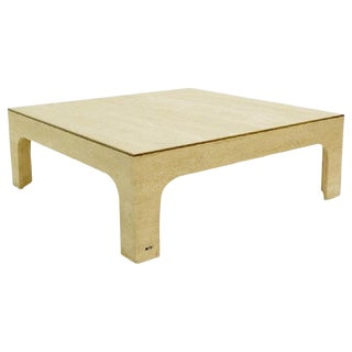 Willy Rizzo Travertine Coffee Table ,1970s For Sale