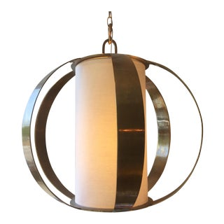 Mid-Century Styled Brass Light Fixture For Sale