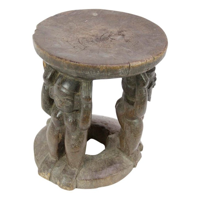 Primitive Ebun African Tribal Stool For Sale - Image 3 of 5