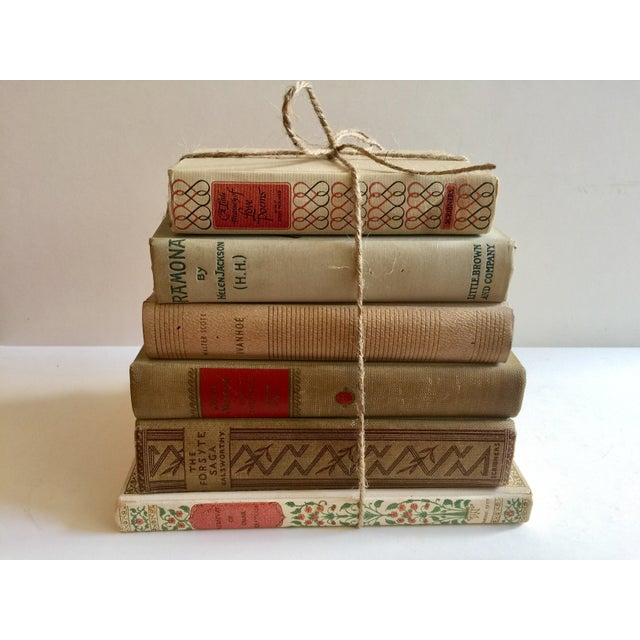 Cream Colored Vintage Books - Set of 6 - Image 2 of 4