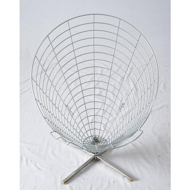 "Purple Verner Panton ""Wire Cone"" Chair For Sale - Image 8 of 11"