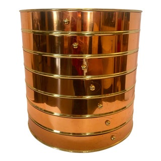 Copper on Brass English Planter For Sale