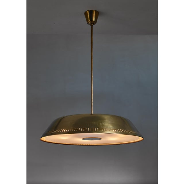 Large Brass Pendant, Sweden, 1930s For Sale - Image 4 of 4