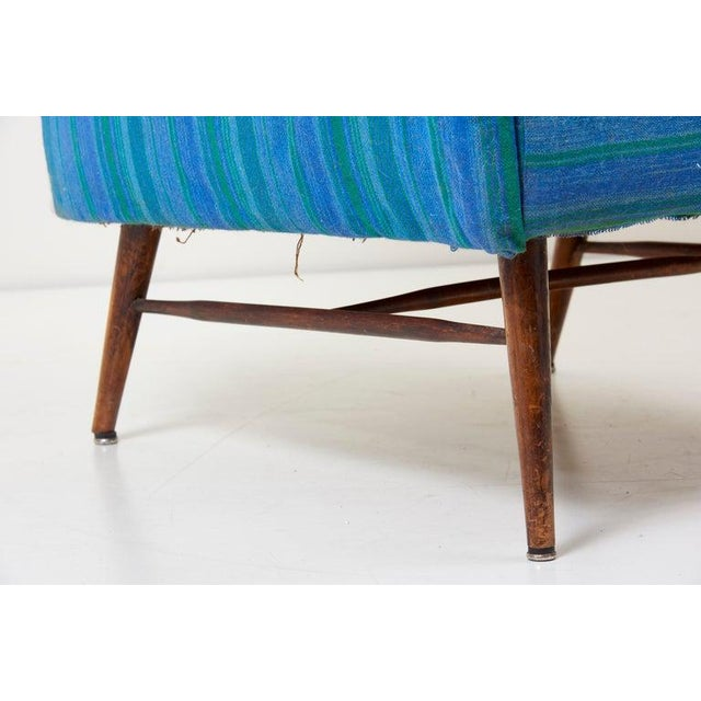 Blue Vintage Lounge Chair by Paul McCobb for Custom Craft For Sale - Image 8 of 13