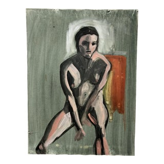 Female Portrait Study Acrylic on Canvas For Sale