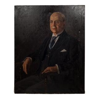 Louise Hahn Oil on Canvas Protrait 1933 For Sale