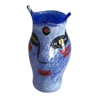 Blue Kosta Boda Open Minds Vase