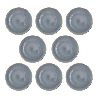 Siren Charcoal Charger Plate - Set of 8 For Sale