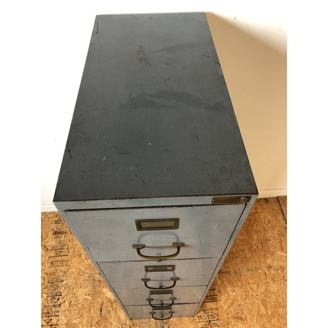 Vintage Lyon Metal Products Steel File Cabinet For Sale - Image 10 of 12