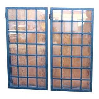 Crittalls and Fenestra Steel Casement Windows- A Pair For Sale