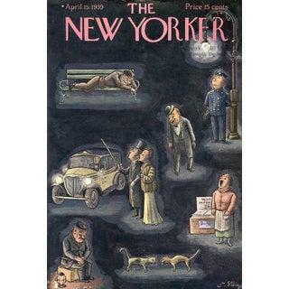 Vintage 1939 New Yorker Cover, April 15 (William Steig), City Life For Sale
