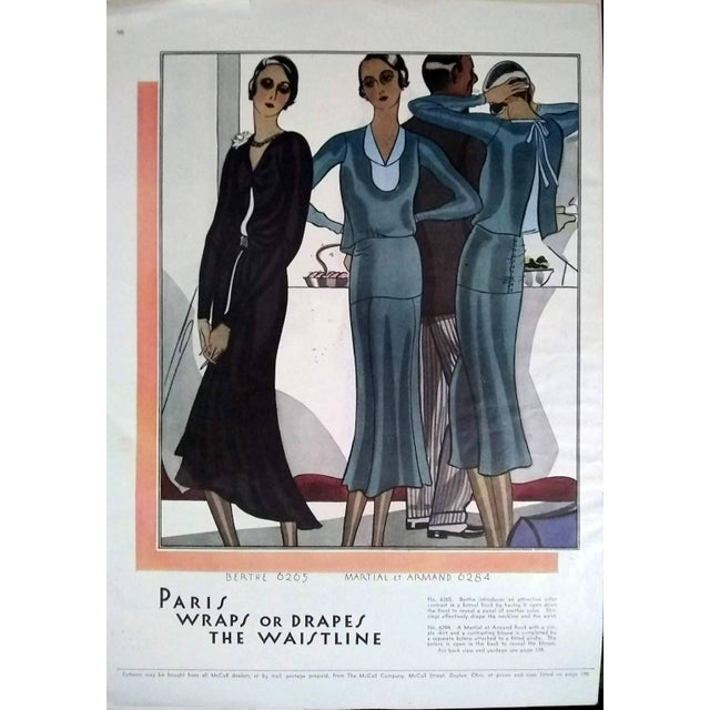 Art Deco 1930 McCalls Dressmaking Pattern Advertisements- Pair For Sale - Image 3 of 8