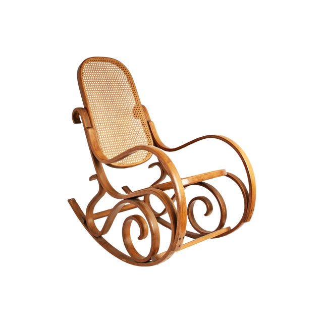 Vintage Thonet-Style Bentwood Cane Rocking Chair - Image 1 of 11