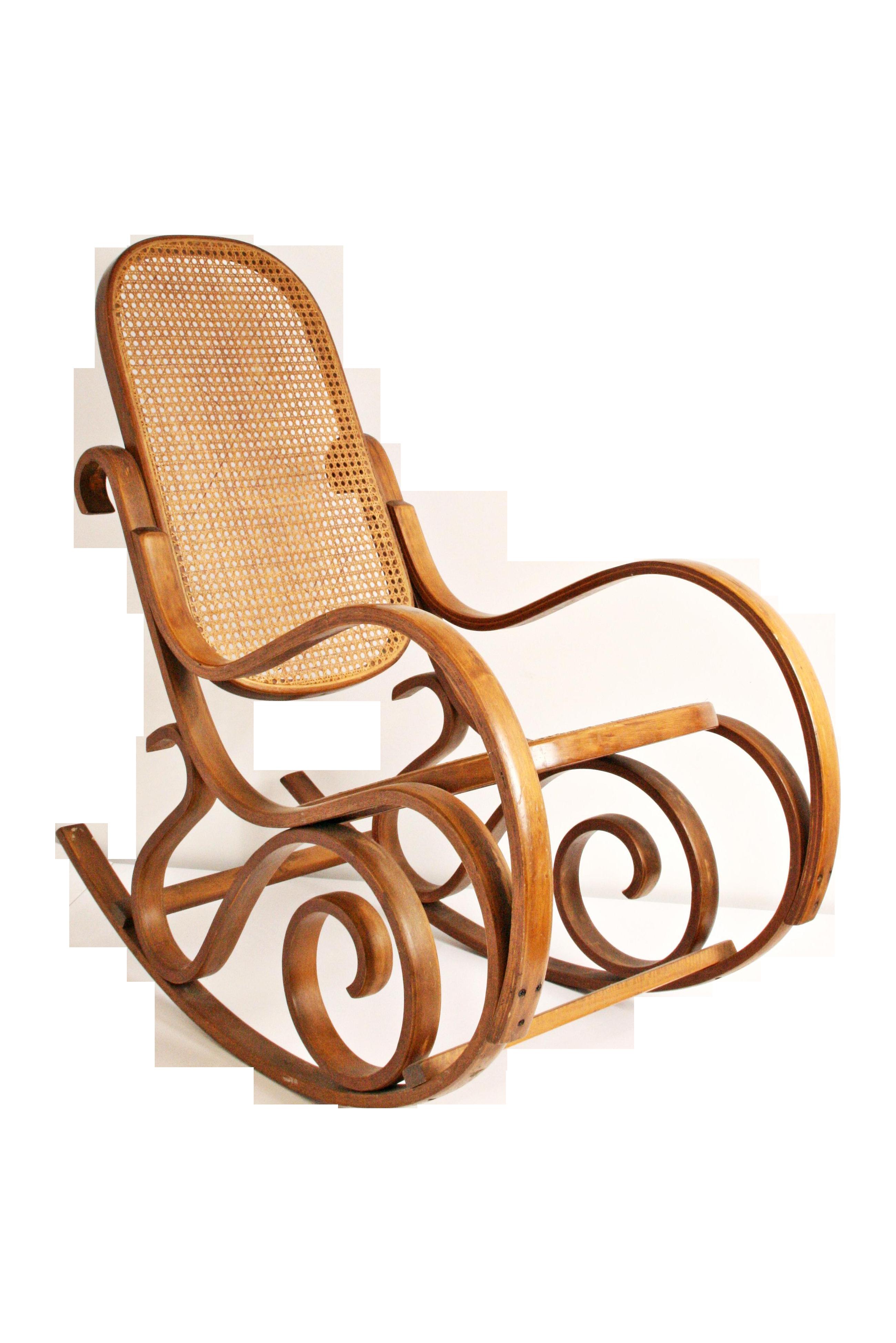 Vintage Thonet-Style Bentwood Cane Rocking Chair  sc 1 st  Chairish & Vintage Thonet-Style Bentwood Cane Rocking Chair | Chairish